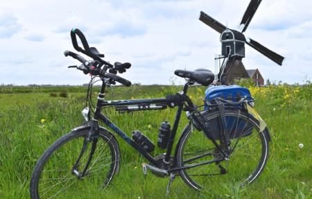 Piet's fiets bij Cabauwse molen